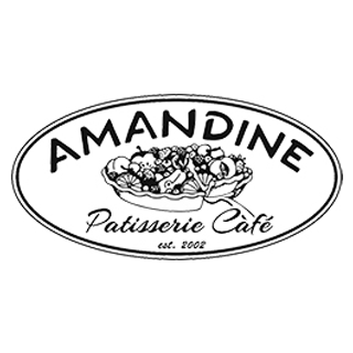 logo for amandine patisserie cafe